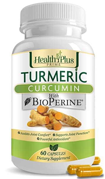 Turmeric Curcumin Pills with Bioperine, Natural Pain Relief and Joint  Support with 95 Percent