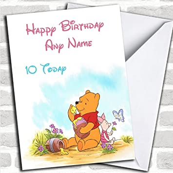 Personalised Winnie The Pooh Piglet Childrens Birthday Card Amazoncouk Office Products