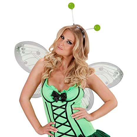 Haarreifen mit Antennen Alien Haarreif Fühler Fee Elfe Kopfschmuck Hexe Kostüm