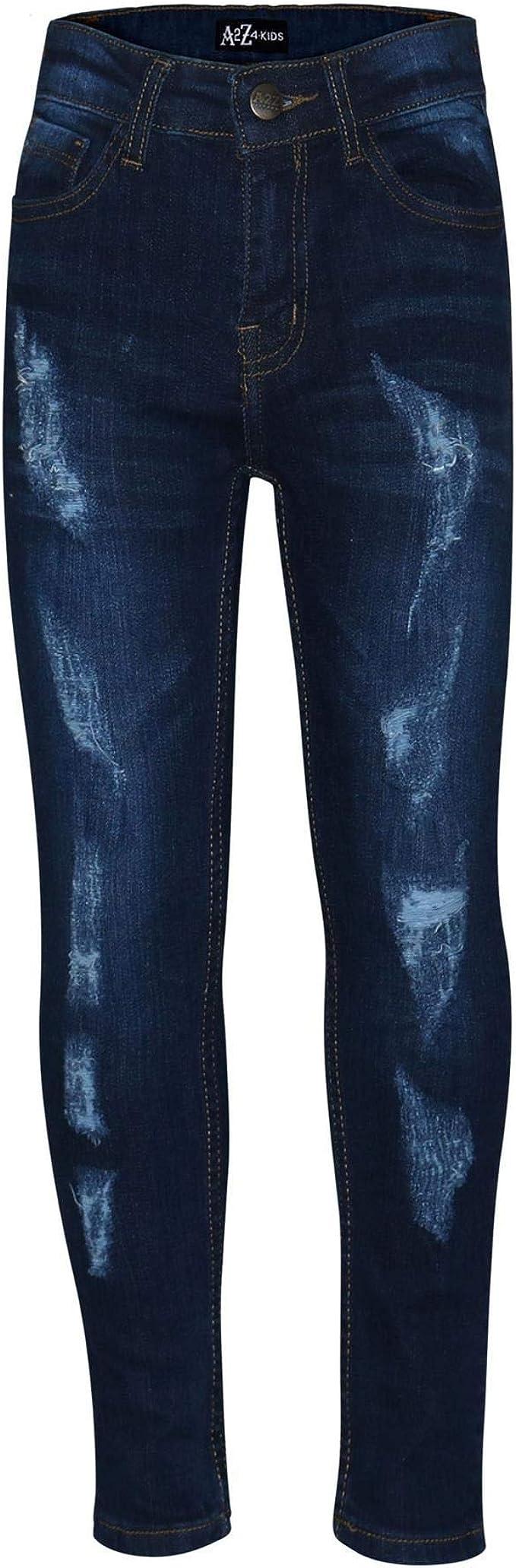 A2z 4 Kids Pantalones Vaqueros Elasticos Para Nino Diseno De Denim Para Ninos De 5 A 13 Anos Vaqueros