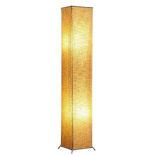 Yinleader - Lámpara de pie moderna de 62 pulgadas, con pantalla de ...