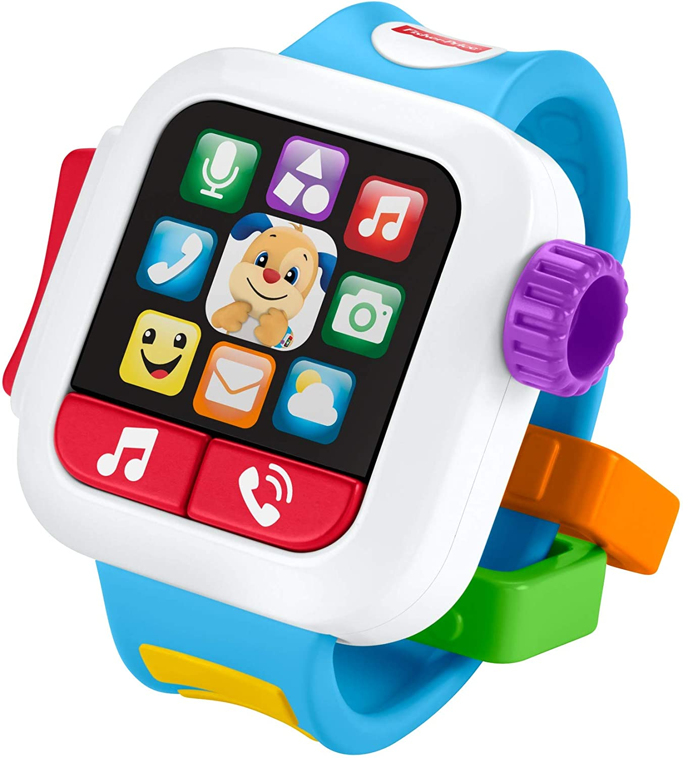 Fisher-Price GJW17Laugh & Learn Time to Learn Smartwatch, Musical Baby Toy, Multicolor