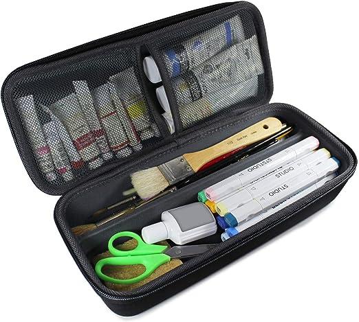 TUDIA - Estuche organizador de goma EVA para suministros de arte, pinceles, rotuladores, suministros de dibujo con asa de transporte: Amazon.es: Hogar