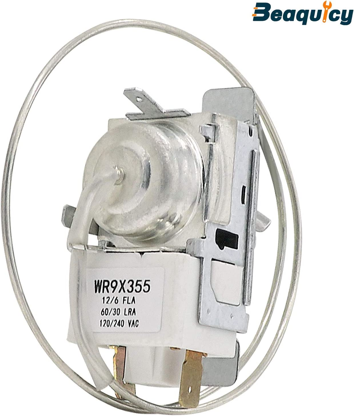 Beaquicy WR9X355 Temperature Control Thermostat - Replacement for GE Hotpoint Refrigerator - WR9X355 Universal Cold Control