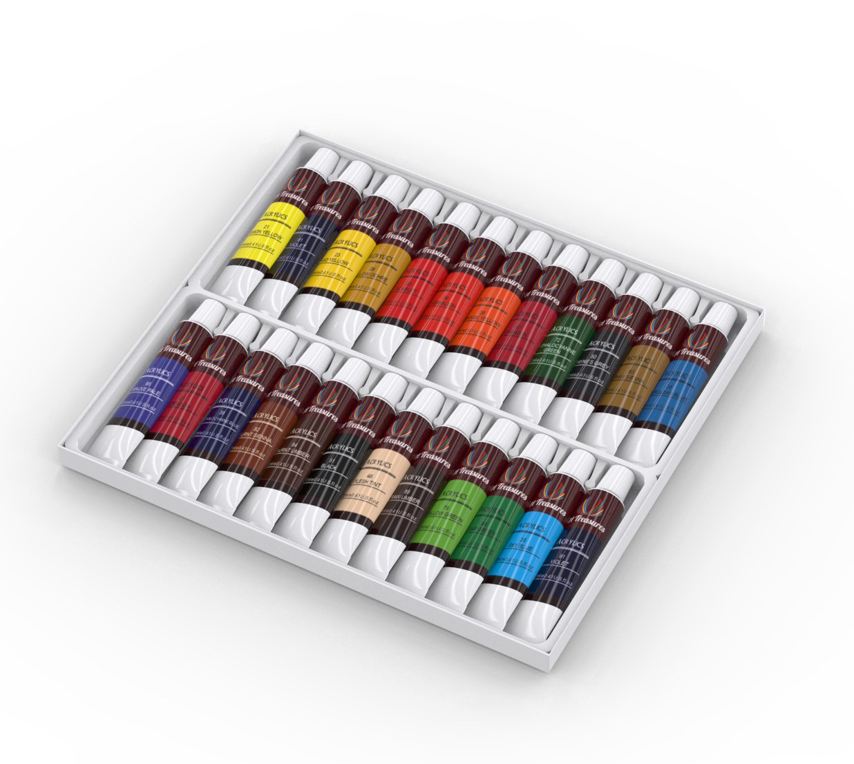 Acrylic Craft Paint - 24 Pack by Art Treasures (Image #3)