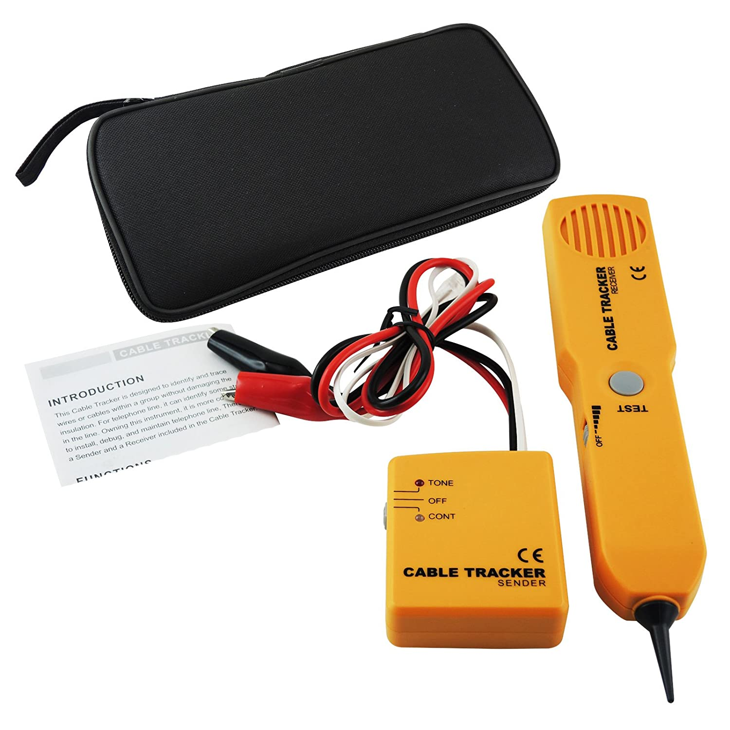 Amazon.com: Network Phone Telephone Line Cable Tracker Wire Tracer ...