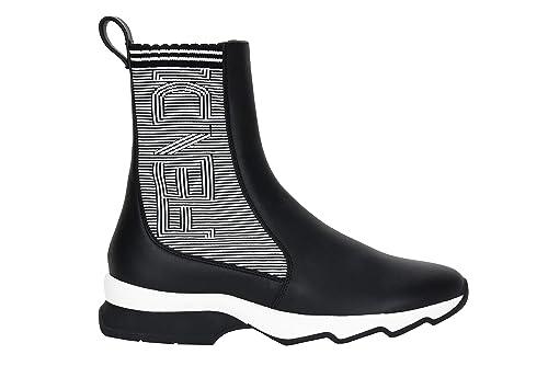 ce6256fe47e Fendi FENDI 8E6631A0IX Sneaker - Botas de Cuero para Mujer     Negro Size   41