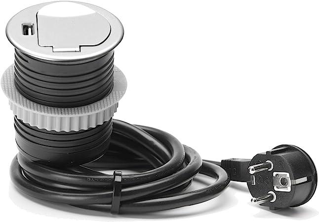 Unitec 264002 empotrable Mesa Enchufe Schuko + USB: Amazon.es ...