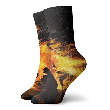 Fire Horse Running Calcetines cortos para adultos Calcetines ...