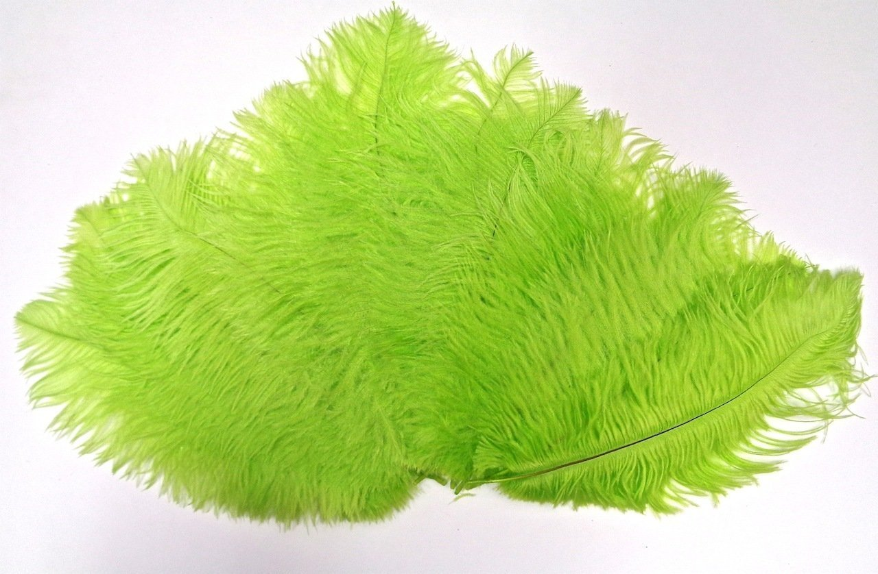 MELADY Pack of 1000pcs Natural Ostrich Feathers Centerpieces 10-12inch(25-30cm) for Home Wedding Party Decoration (Lime)