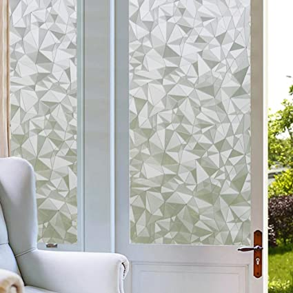 Coavas window film privacy no glue glass decorative window cling removable privacy window tints for