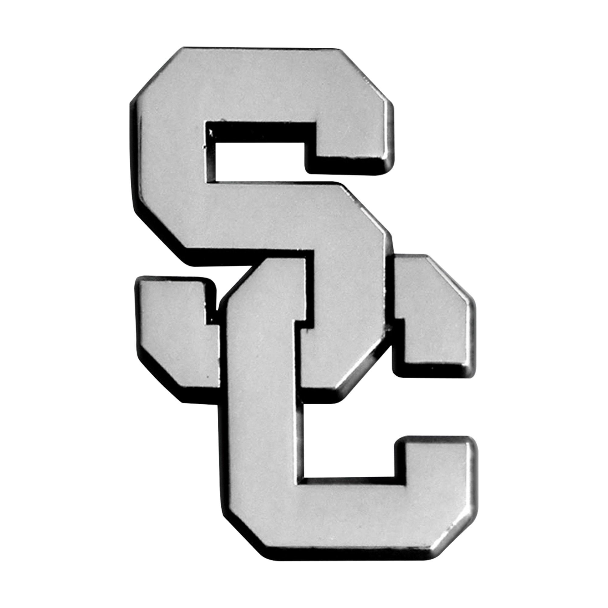 FANMATS NCAA Univ of Southern California Trojans Chrome Team Emblem