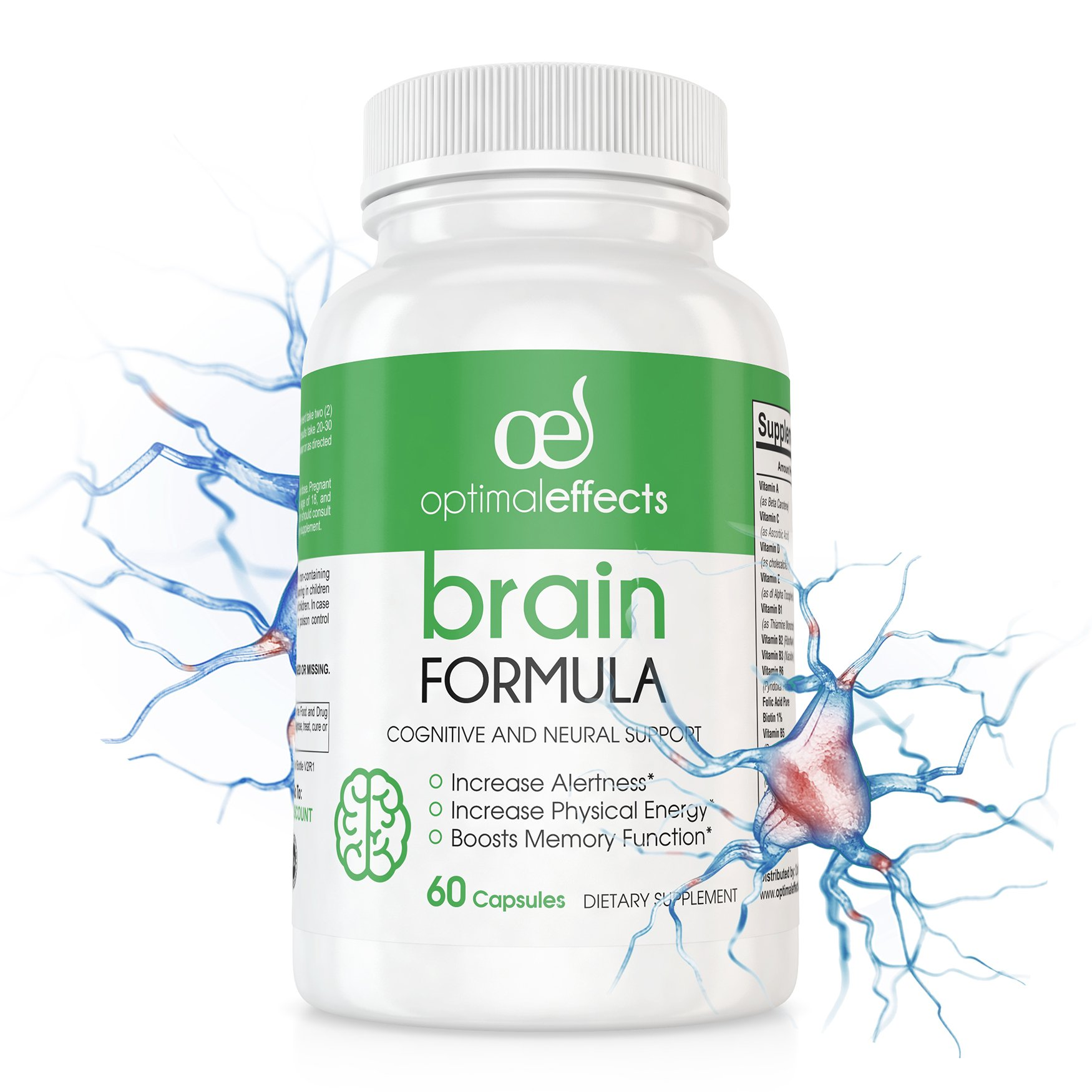 Nootropic by Optimal Effects - All Natural Memory, Focus, Productivity,  Energy & Brain