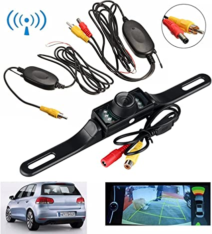 New 2.4G Wireless Car Rear View Reverse Camera Backup Kit 7 LED IR Night Vision