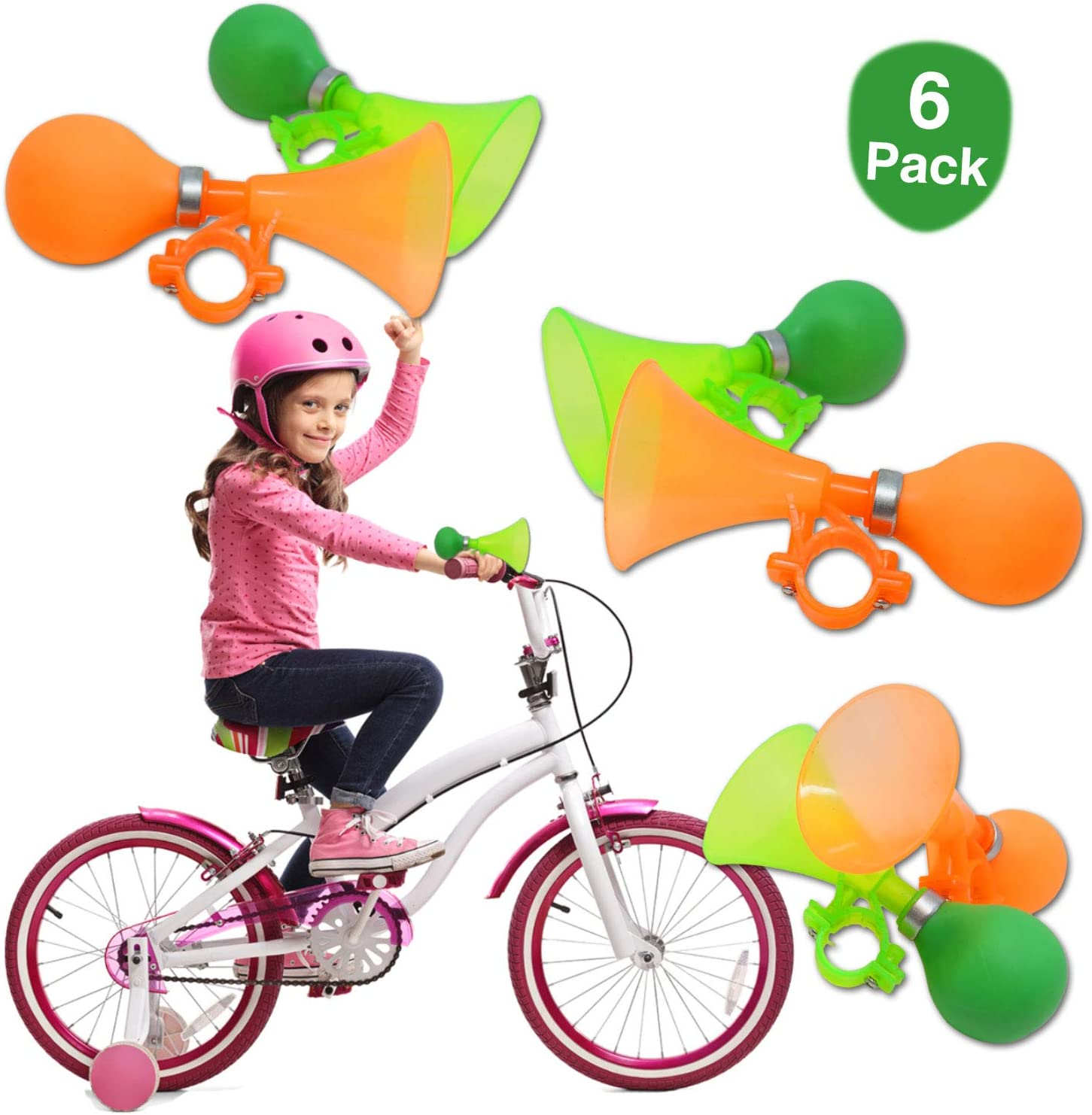 WINOMO 1pc Bicycle Horn Bell Flower Shaped Handlebar Horn Bicycle Horn Bike Bell for Kids Children