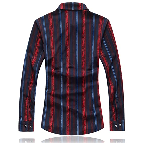 01cefc4b81a0e Shining4U Slim men Long sleeves Casual mens shirts dress camisa social slim  Fashion NEW Spring Autumn Cool at Amazon Men s Clothing store