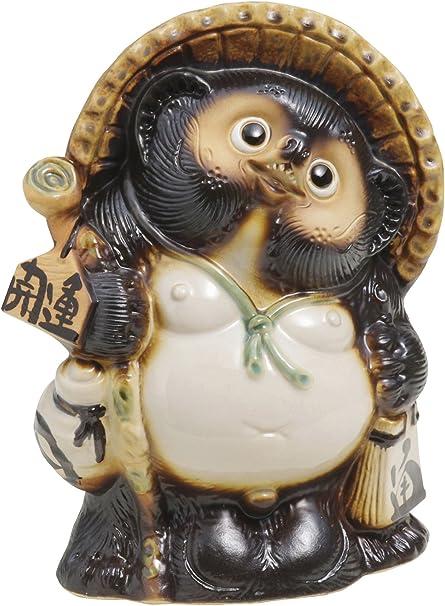 Shigaraki Pottery 10.23'' Raccoon Dog Kaiun Tanuki Statue: Amazon ...