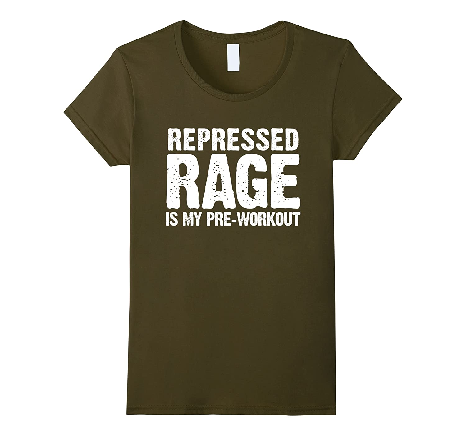 Repressed Pre Workout Funny Exercise T Shirt-Awarplus