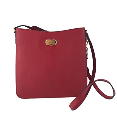 308d8d55c158 Amazon.com  Michael Kors Jet Set Travel Large Messenger Crossbody Red  Shoes