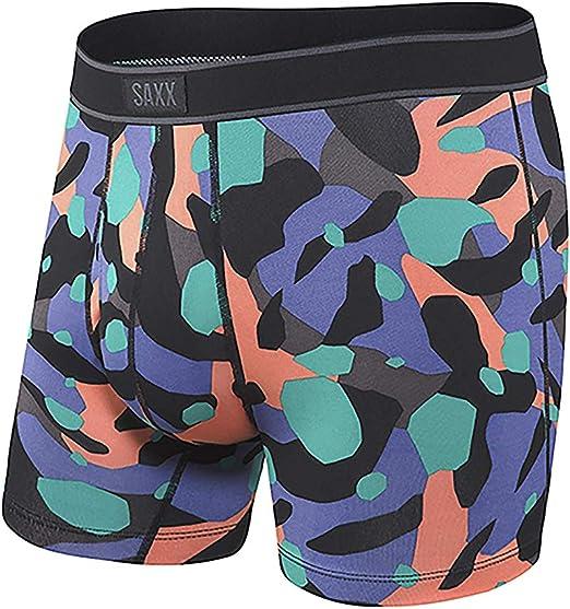 Saxx Underwear Mens Boxer Briefs Navy,Large Daytripper Boxer Briefs with Built-in Ballpark Pouch Support