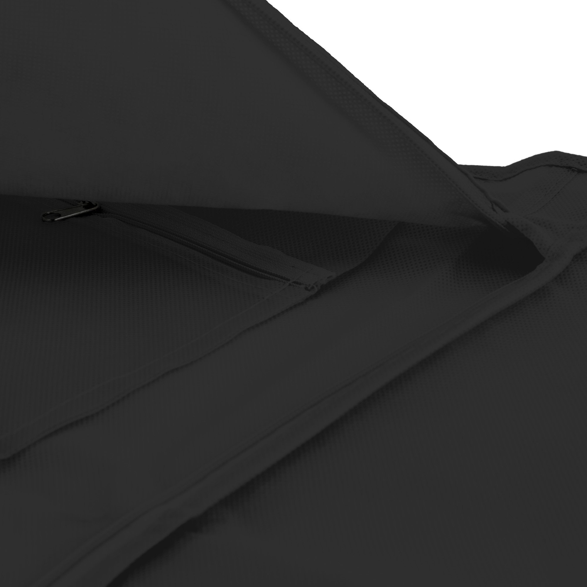 Hangerworld Black Breathable 60 inch Suit Garment Bag - Extra Long cover for Dresses and Gowns, Featuring a Secret Internal Zipped Pocket for safe storage. by HANGERWORLD (Image #7)