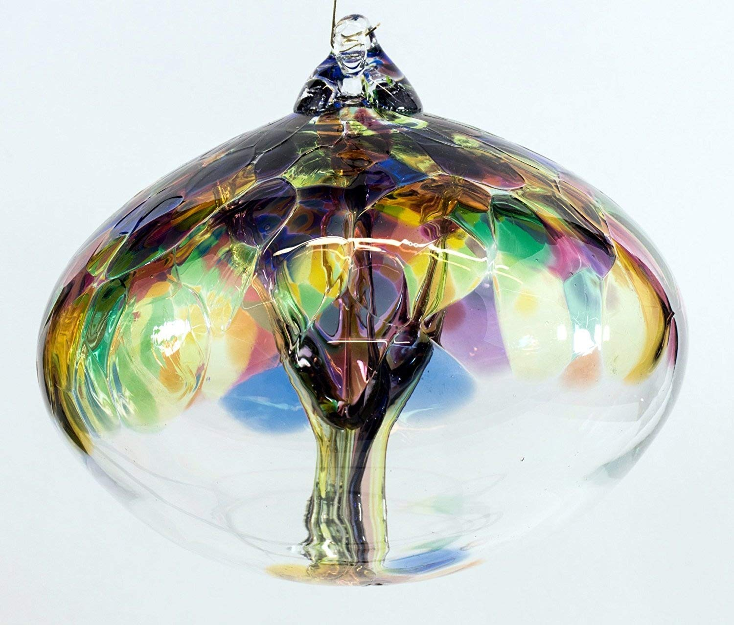 Milford Collection Orb Tree of Life Large Glass Globe - Multicoloured