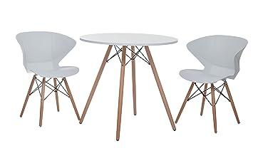 Sitzgruppe Ray Designer Tisch 2 Stühle Retro Tisch Mit 2 Stühlen