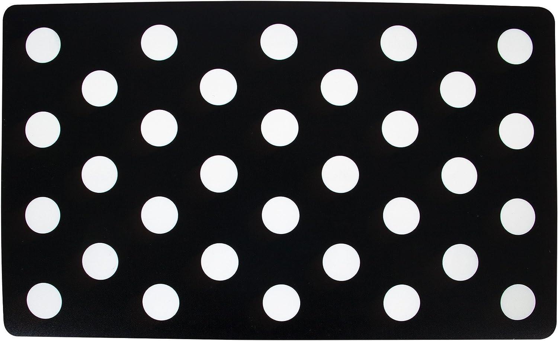Petmate Black White Dot Plastic Food Mat