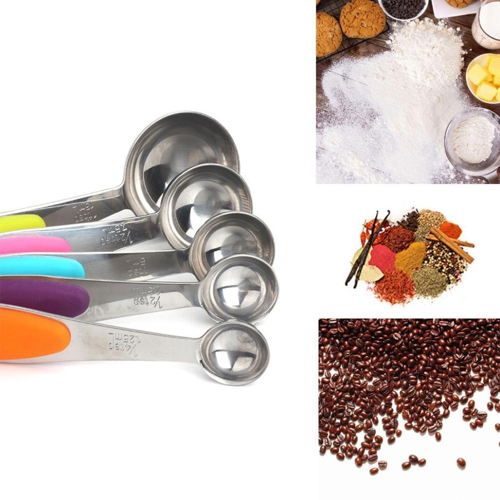 YJYDADA 10pcs Stainless Steel Tool Baking Coffee Measuring Cups/Measuring Spoons kitchen