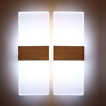Glighone Applique Murale Intérieur LED Moderne 2*12W Acrylique En Aluminium  Up Down Eclairage Décoration