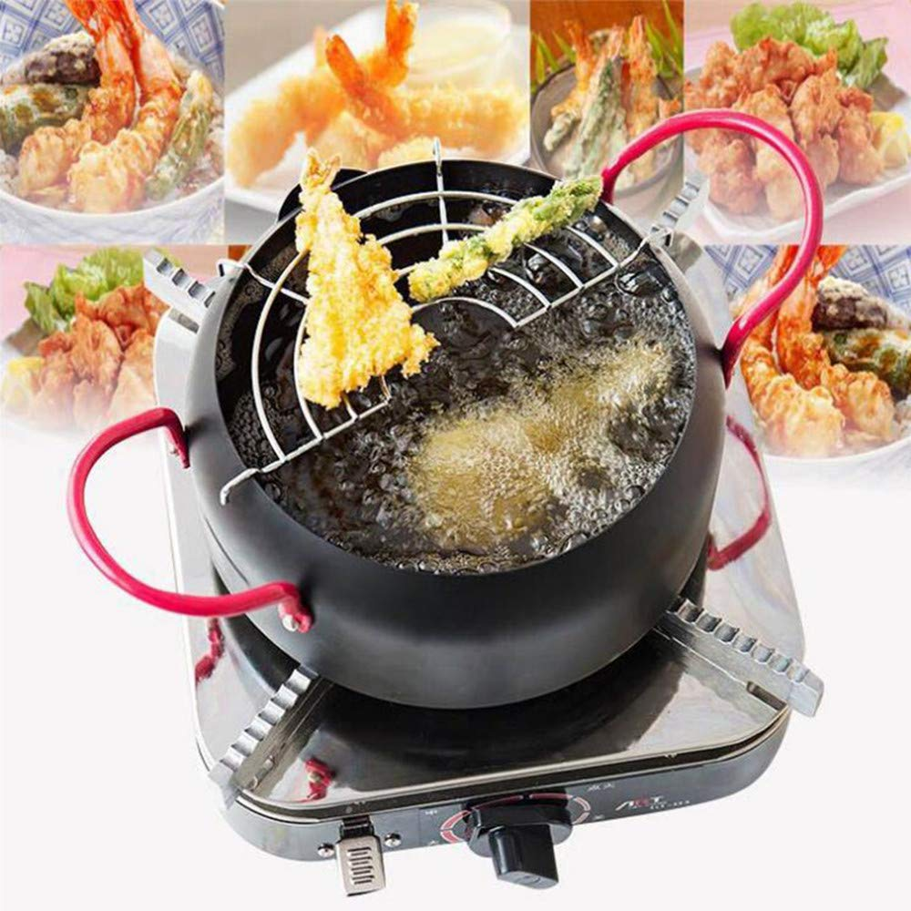 Funwill 22cm Japanese Fried Tempura Pot For Household Fryer by funwill (Image #1)
