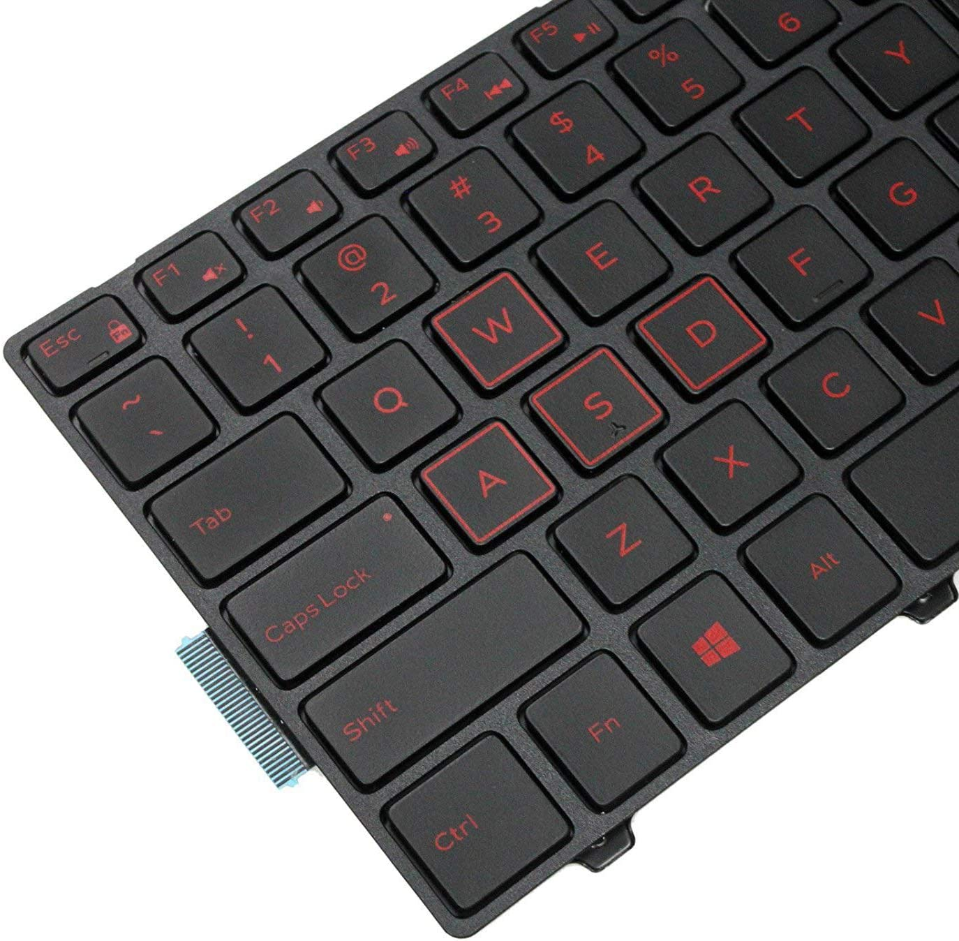 Inspiron 15 3542 3543 3551 3552 5555 5542 5545 5547 5551 5558 5552 5559 Series Laptop Without Backlit US Layout 5748 5749 5758 5755 5759 5767 Replacement Keyboard for Dell Inspiron 17 5000