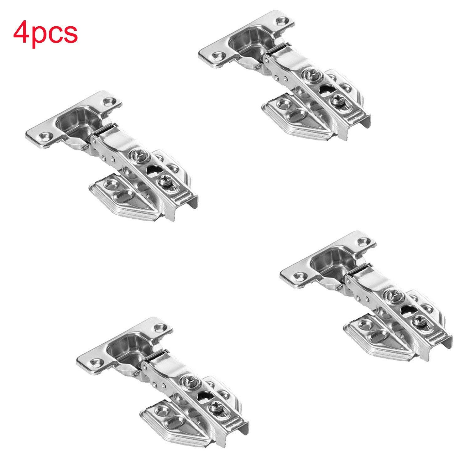 IUME 4 Pack Face Frame Concealed Kitchen Cabinet Door Hinges Full Overlay Hinges Hydraulic Hinges
