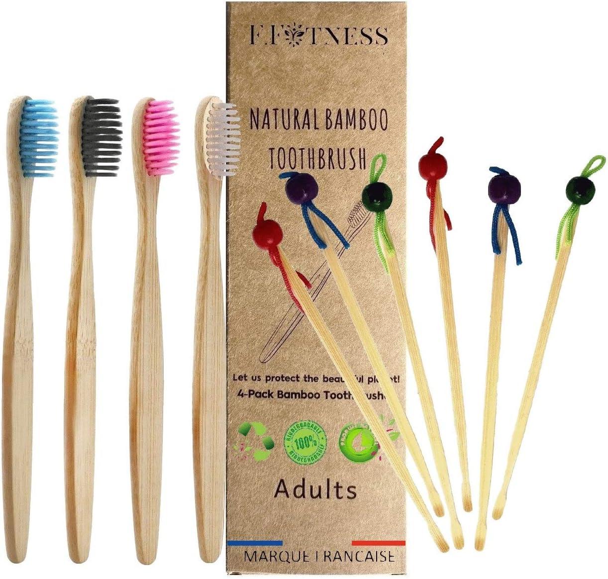 Pack de cepillos de dientes de bambú alternativo ecológico y 100 ...