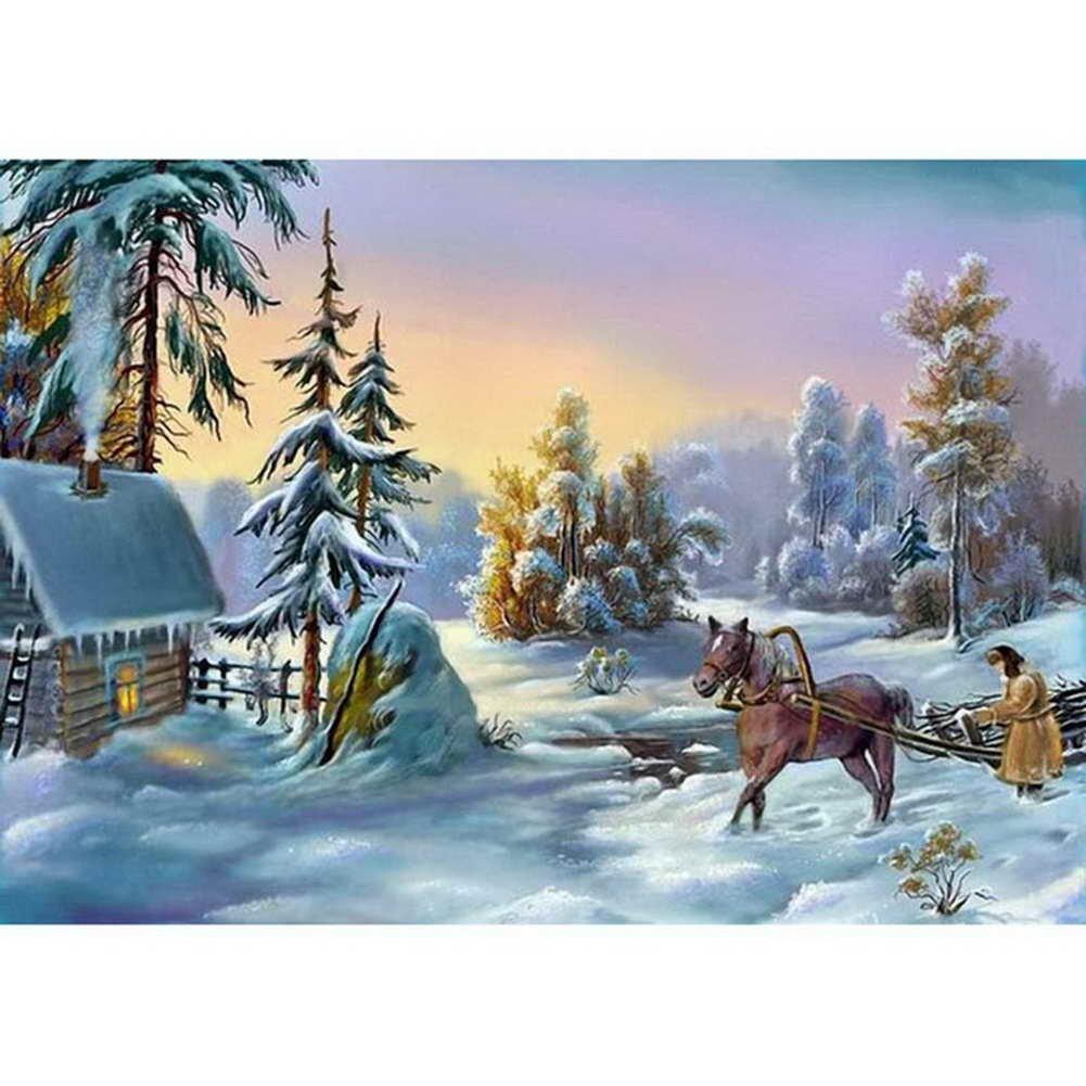 windgoal 5d DIYダイヤモンド絵画ラインストーン画像のクリスタル刺繍パッチワーク&クロスステッチの装飾gift-scenery 11 30x45cm WGZSH17091813 30x45cm スタイル8 B075M95B95
