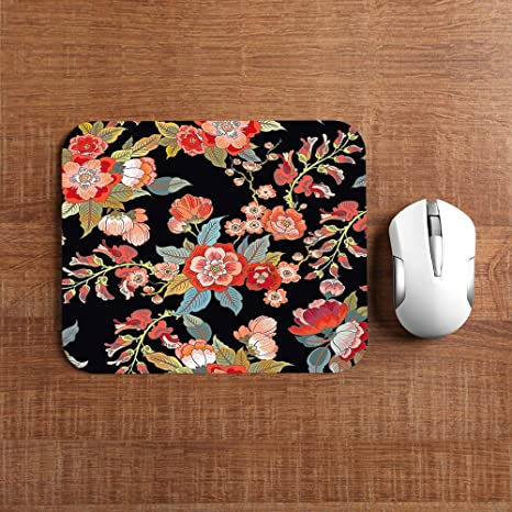 Design Gaming Mouse Pad Pink,Pink Romantic Flowers 7.9x9.5 inch for Kids