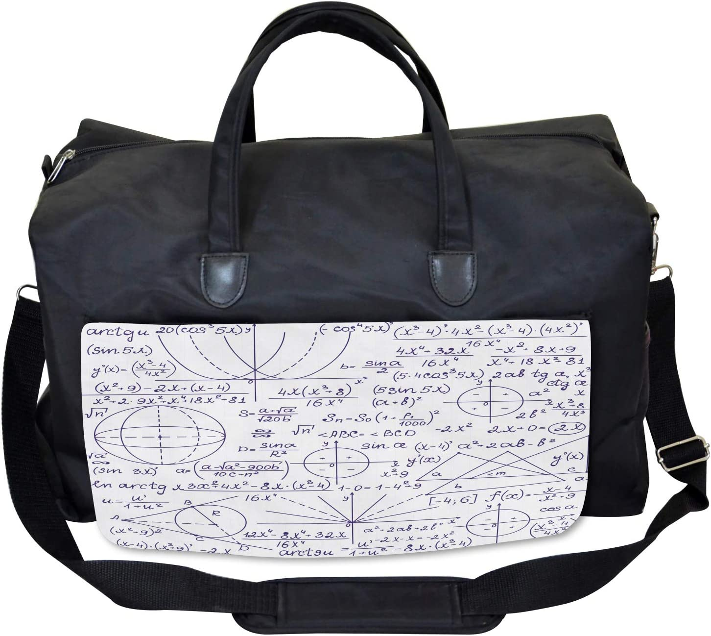 Student Geometry Ambesonne Modern Gym Bag Large Weekender Carry-on