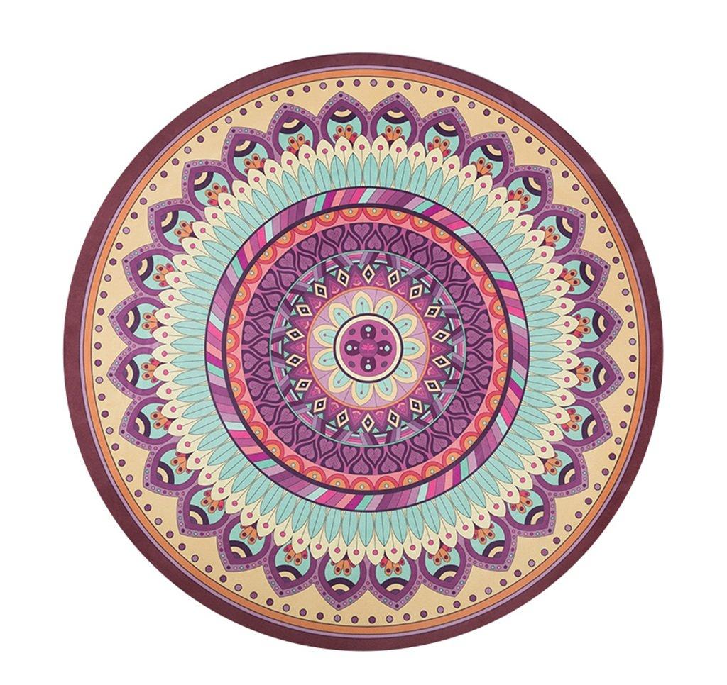 JSSFQK ラウンドヨガマット、ノンスリップラウンド瞑想パッドの動きフィットネス天然ゴムヨガマットカーペット150x150cm ヨガマット (色 : #3, サイズ さいず : 4mm thick) B07RDB36DN 1.5mm thick|#3 #3 1.5mm thick