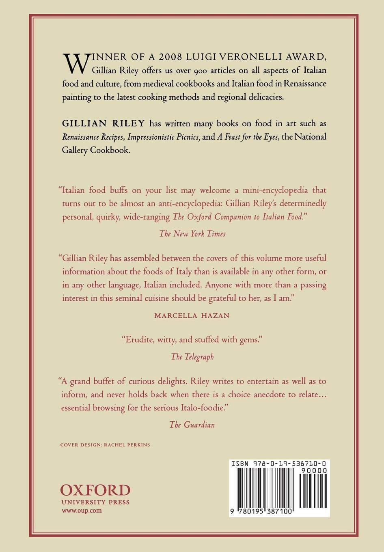 Amazon com: The Oxford Companion to Italian Food (Oxford Companions
