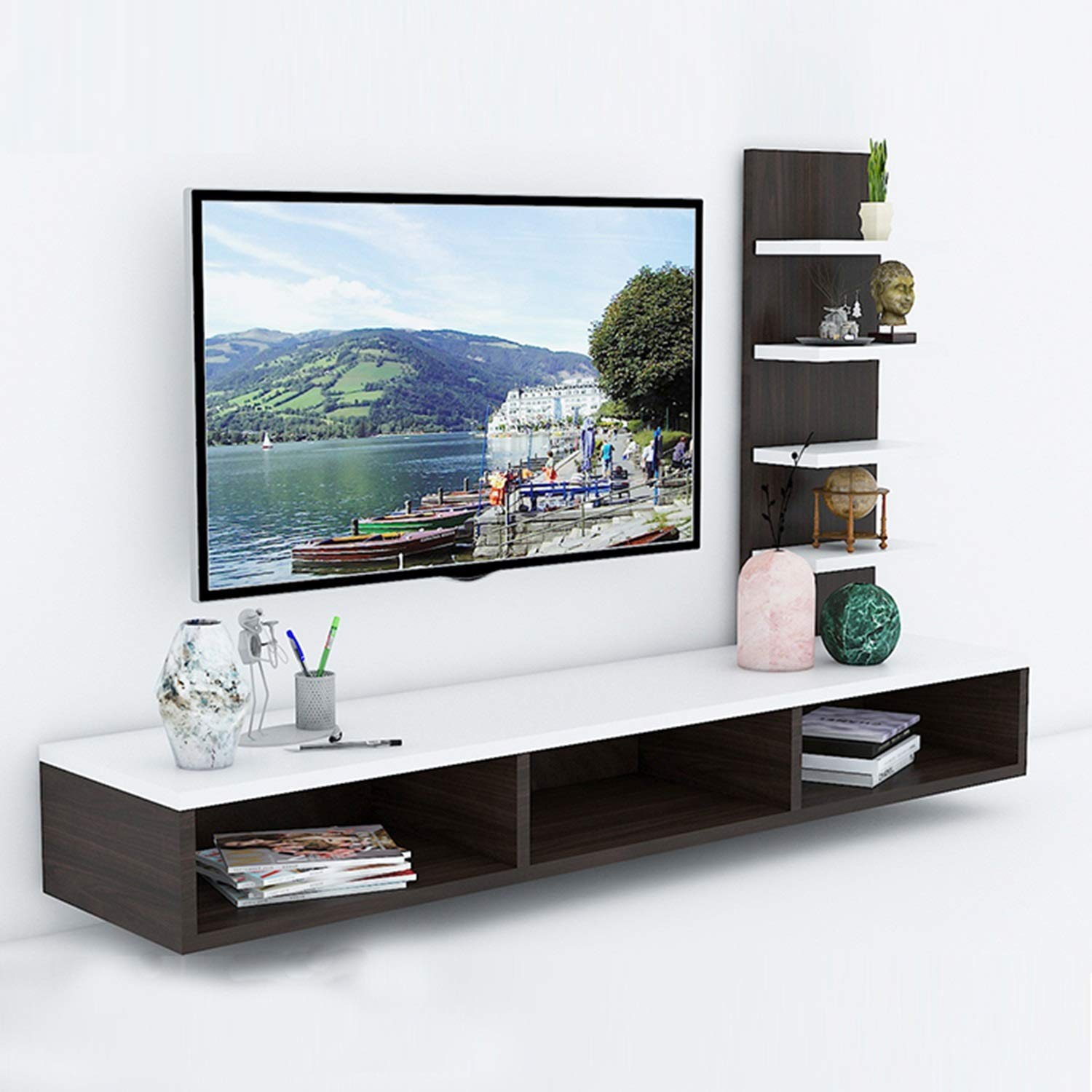 Aart Store Engineered Wood Tv Entertainment Unit With Storage In Furniture In Living Room Wall Amazon In Furniture