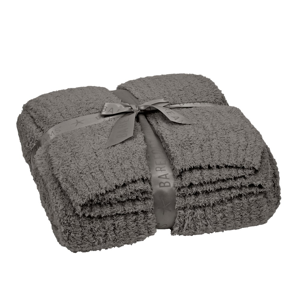 Barefoot Dreams CozyChic Ribbed Throw Blanket, Color: Charcoal by Barefoot Dreams