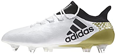 adidas X 16.1 SG - Bottes de Football pour Homme, Blanc, Taille: 39