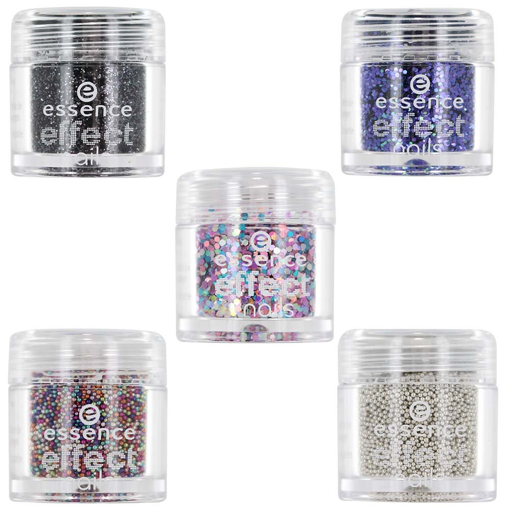 Essence Effect Nails - Nail Art Multidimensional Glitter - LOT OF 5 Shades by Essence