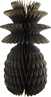 product image for 3-Pack Solid Colored 13 Inch Honeycomb Pineapple Party Decoration (Black)