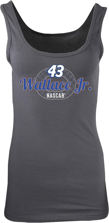 Small NASCAR Richard Petty Motorsports Bubba Wallace Womens W Jersey TankW Jersey Tank Dark Grey