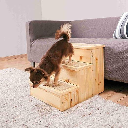 Trixie petstair escaleras para perros y gatos, de abedul, 40 x 38 45 cm – Alfombra cubierta pasos Base para: Amazon.es: Productos para mascotas