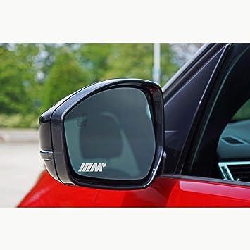 Bianco Autodomy Confezione Adesivi Compatibile BMW M Performance 2 Pezzi per Auto