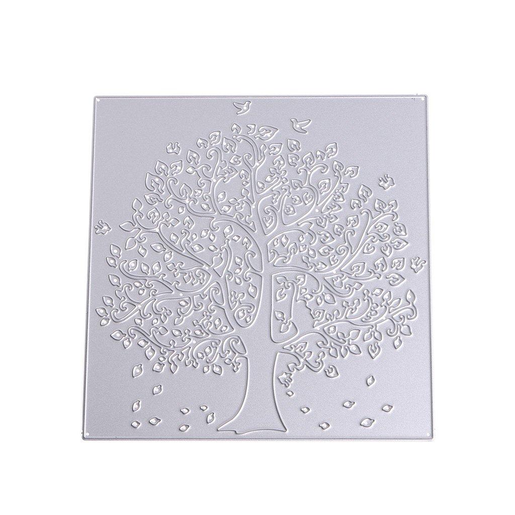 Big Tree House Metal Cutting Dies Stencil DIY Scrapbooking Embossing Pape Ed6E