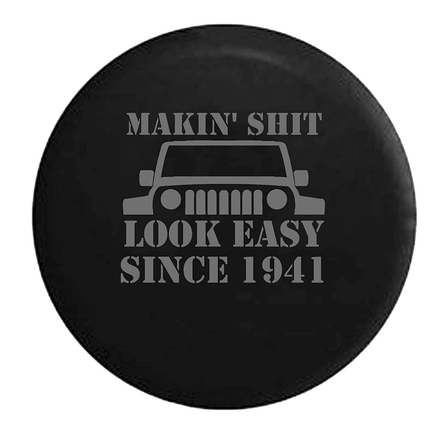 Best Off Road Tire Brand Logo >> Stealth Jeep Wrangler Jk Tj Makin It Look Easy Since 1941 Top Off Road 4x4 Spare Tire Cover Oem Vinyl Black 32 33 In