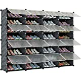 KOUSI Portable Shoe Rack Organizer 64 Pair Tower Shelf Storage Cabinet Stand Expandable for Heels, Boots, Slippers, 12 Tier B